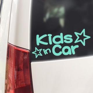 Kids in Car+星スター/ステッカー(ミント,キッズインカー)(その他)