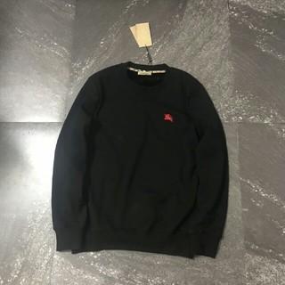 バーバリーブラックレーベル(BURBERRY BLACK LABEL)の刺刺戦馬のミンチの綿の丸襟の上着(Tシャツ(長袖/七分))