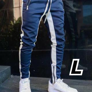 メンズ ジョガーパンツ ライン ネイビー  【新品】(その他)