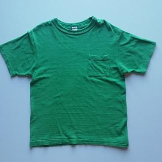 ウエアハウス(WAREHOUSE)のWAREHOUSE/胸ポケットTシャツ/無地グリーン/USED/シャドウボーダー(Tシャツ/カットソー(半袖/袖なし))