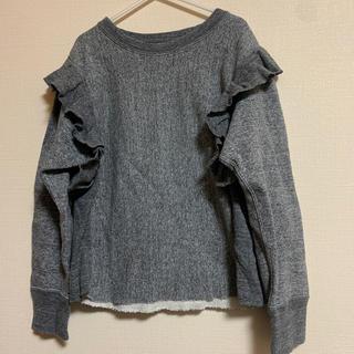 ゴートゥーハリウッド(GO TO HOLLYWOOD)のGO TO HOLLYWOOD☆ショルダーフリル スウェット 130cm(Tシャツ/カットソー)
