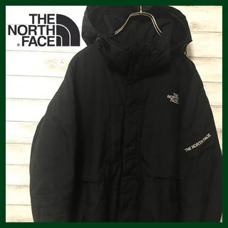 THE NORTH FACE - 訳ありノースフェイス ★裏ボア 肉厚 マウンテンパーカー 刺繍ロゴ ブラック
