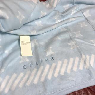 セリーヌ(celine)のCELINE 綿ハーフケット ブルー(おくるみ/ブランケット)