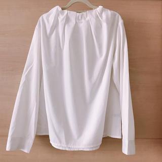 ZARA - 雑貨屋購入*ギャザーシャツ 白