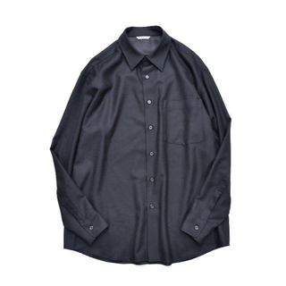 COMOLI - AURALEE オーラリー SUPER LIGHT WOOL SHIRT 黒 5