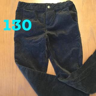 コムサイズム(COMME CA ISM)のcomsa ズボン パンツ ベロア 黒 130(パンツ/スパッツ)