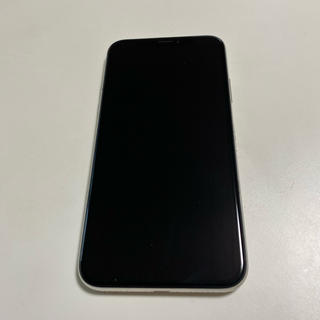 Apple - (中古)iPhonex 256GBシルバーSIMフリー(画面割れあり)
