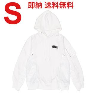 サカイ(sacai)のNike x sacai Hoodie WHITE フーディ パーカー S(パーカー)