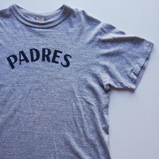 ウエアハウス(WAREHOUSE)のWAREHOUSE/フロッキープリントTシャツ/USED/やや汚れ有(Tシャツ/カットソー(半袖/袖なし))
