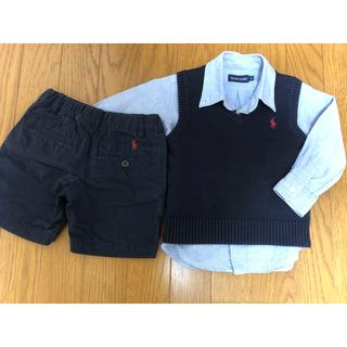 Ralph Lauren - ☆あずき様専用☆ラルフローレン シャツ、ベスト、ズボン 3点(90)