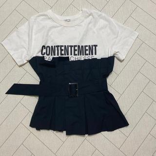フレイアイディー(FRAY I.D)のFRAY ID♡ペプラムTシャツ(Tシャツ(半袖/袖なし))