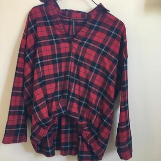 しまむら - 赤チェックシャツ