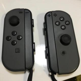 ニンテンドースイッチ(Nintendo Switch)のジョイコン グレー ストラップ付き(家庭用ゲーム機本体)
