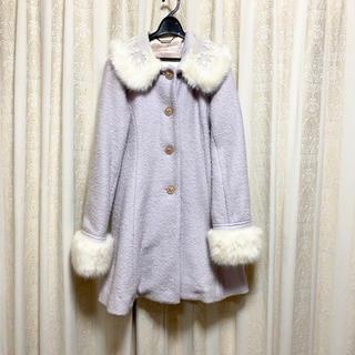 リズリサ(LIZ LISA)の【リズリサ】水色ファーコート(毛皮/ファーコート)