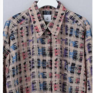 BEAUTY&YOUTH UNITED ARROWS - <6(ROKU)>チェックプリントシャツ