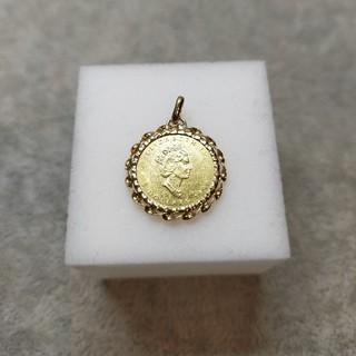 メイプルリーフ金貨 K24 枠K18 1/10oz エリザベスⅡ 4.0g
