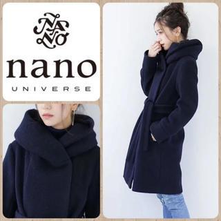 nano・universe - ナノユニバース コート ネイビー スライバー ニット 定価19000円+tax