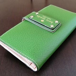 kate spade new york - 【kate spade・未使用】カードケース・長財布にも 明るいグリーン