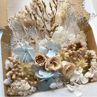 *176*ホワイトアイボリー系*花材詰め合わせセット*花材ボックス