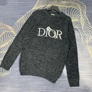 Dior - 冬新作 ディオール ロゴ クルーネックセーター