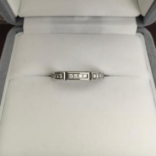 ニワカ(俄)の 俄 NIWAKA ダイヤモンド リューズ リング K18WG 4.3g(リング(指輪))