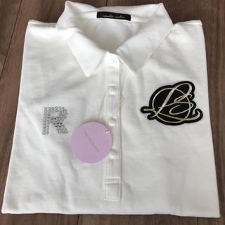 パーリーゲイツ(PEARLY GATES)の新品 長袖 ポロシャツ 綿100 白(ウエア)