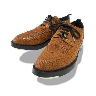 ドリスヴァンノッテン(DRIES VAN NOTEN)のkris van assche クロコ 型押し レザー シューズ 靴(ドレス/ビジネス)
