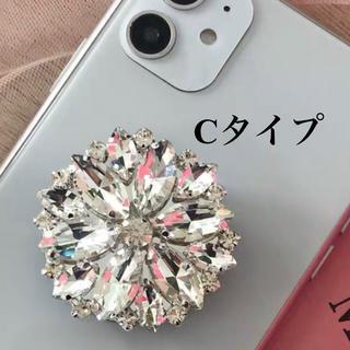ロイヤルパーティー(ROYAL PARTY)のダイヤモンド スマホグリップ キラキラ ビジュー バンカーリング(iPhoneケース)