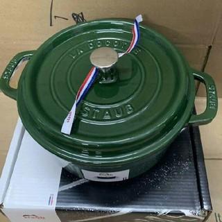 ストウブ(STAUB)の濃い緑色 · 24cm 鋳鉄STAUBエナメル鍋 即購入ok!(調理道具/製菓道具)