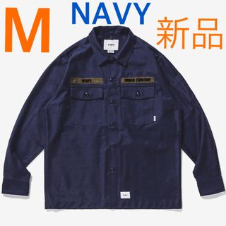 W)taps - M 新品 WTAPS BUDS LS SHIRT NAVY シャツ 20AW