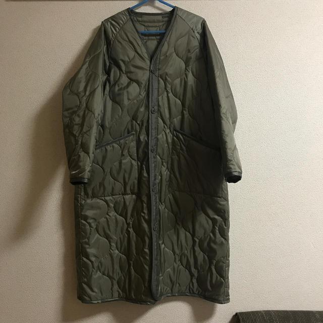 HYKE(ハイク)のHYKキルティングライナーコート サイズ1 グレー レディースのジャケット/アウター(ロングコート)の商品写真