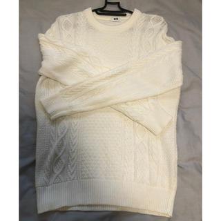 UNIQLO - ユニクロ 白 セーター ニット