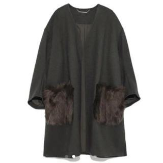 ミラオーウェン(Mila Owen)のミラオーウェン エコファーポケットコート(毛皮/ファーコート)