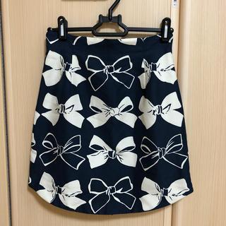 ダズリン(dazzlin)の美品♡dazzlin♡リボンタイトスカート(ミニスカート)