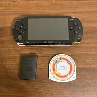 PlayStation Portable - 稼働品 psp 1000 cfw6.60me2.3 黒 純正バッテリーつき