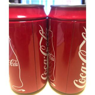 コカコーラ(コカ・コーラ)の【未開封】コカコーラ ハッピー缶 2013年 カラーイヤホン 黒 2個(ノベルティグッズ)