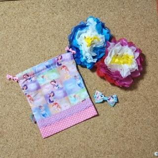 給食袋☆ディズニー  プリンセス☆ハンドメイド(外出用品)