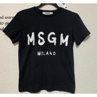 MSGM - 極美品■エムエスジィエムMSGM 半袖Tシャツ XS 黒白 レディース トップス