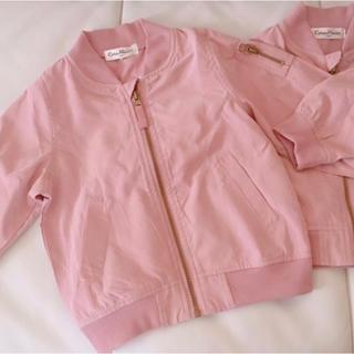 petit main - MA-1ジャケット くすみピンクブルゾン 80cm100cm 2セットジャンパー
