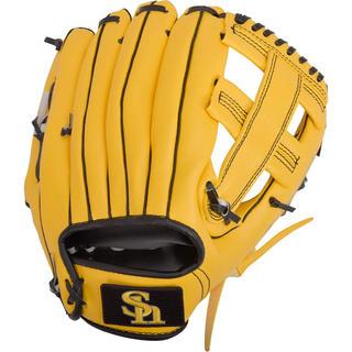 福岡ソフトバンクホークス 野球 グローブ 軟式一般 大人 右投げ用 黄色