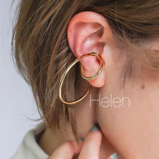 Plage - gold loop ear cuff