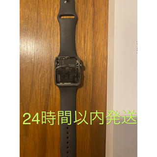 アップルウォッチ(Apple Watch)の【ジャンク品】applewatch3  42mm 正規充電ケーブル&バンド 箱付(腕時計(デジタル))