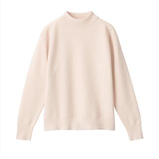 MUJI (無印良品) - 無印良品 コットンシルクガーター編みモックネックセーター