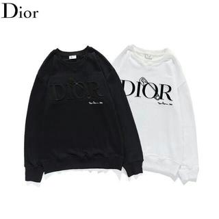 ディオール(Dior)の刺繍?\2枚12000/ディオールDIOR長袖トレーナースウェット(Tシャツ/カットソー(七分/長袖))