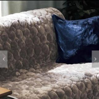 ベルメゾン(ベルメゾン)のソファー 中掛け ベルメゾン あったかなめらかぽこぽこマルチカバー マルチカバー(ソファカバー)