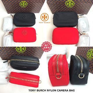 トリーバーチ(Tory Burch)のトリーバーチ NYLON CAMERA BAG カメラバッグ ブラック(ショルダーバッグ)