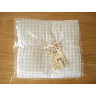 MUJI (無印良品) - 無印良品 洗いざらし 掛け布団カバー SD グレーチェック■セミダブル 新品