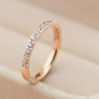 18Kgf ダイヤ10石 指輪 関節リング ch005 ピンクゴールド(リング(指輪))