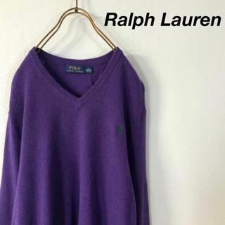 POLO RALPH LAUREN - 【美品】POLO Ralph Lauren  vネック ハイゲージニット
