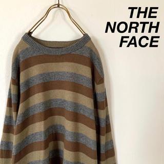 ザノースフェイス(THE NORTH FACE)のTHE NORTH FACE マルチカラー ボーダー ラウンドネック ニット(ニット/セーター)